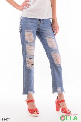 Женские укороченные джинсы
