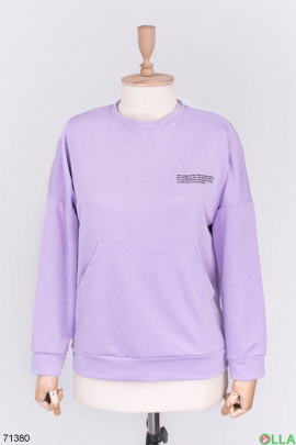 Женский лиловый свитшот