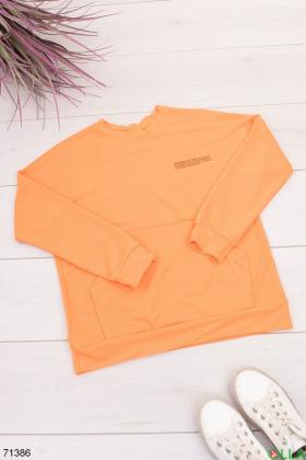 Женский оранжевый свитшот