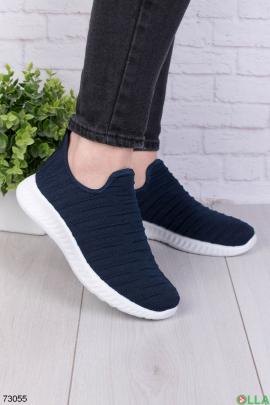 Женские темно-синие кроссовки