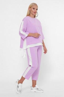 Женский фиолетовый костюм