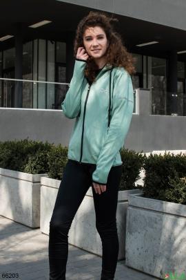 Женский бирюзово-черный спортивный костюм