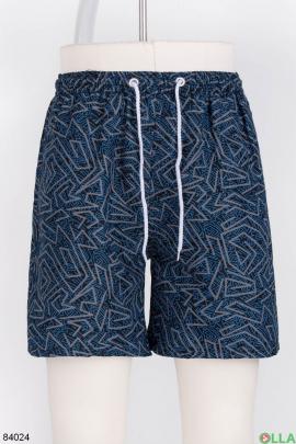 Мужские пляжные шорты с узром с узором