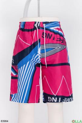 Мужские разноцветные пляжные шорты