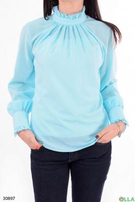 Женская рубашка с оборками