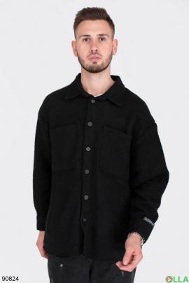Мужская рубашка в полоску из искусственного кашемира