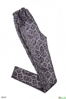 Женские лосины с леопардовым принтом