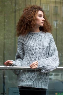 Женский зимний Серый свитер
