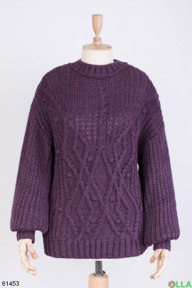 Женский зимний Фиолетовый свитер