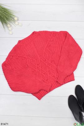 Женский зимний Красный свитер