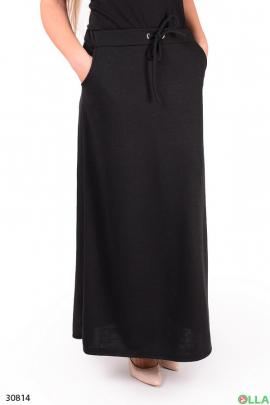 Трикотажная юбка с поясом на резинке