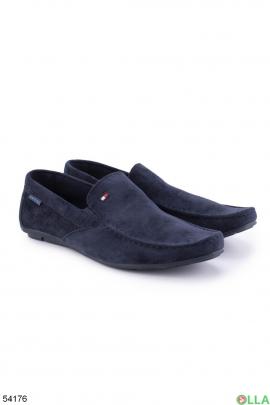 Мужские синие туфли