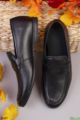 Мужские черные туфли