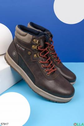 Мужские коричневые ботинки