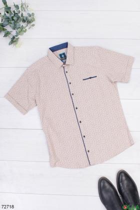Мужская бежевая рубашка