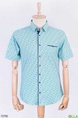 Мужская двухцветная рубашка