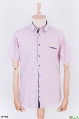 Мужская светло-розовая рубашка