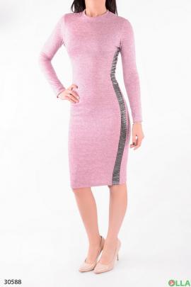 Платье с люрексом и блестящими вставками