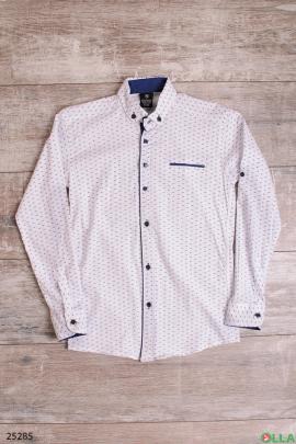 Рубашка с мелким рисунком