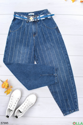 Женские джинсы с поясом
