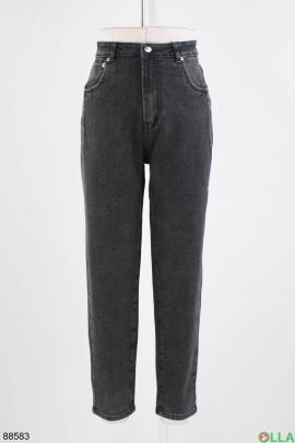 Женские темно-серые джинсы Boyfriend