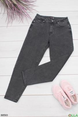 Женские темно-серые клаасические джинсы