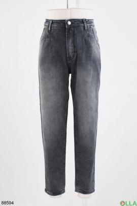 Женские темно-серые джинсы-Boyfriend