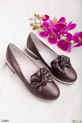 Туфли-лоферы с бантом