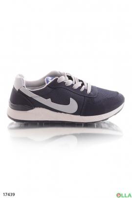 Синие спортивные кроссовки