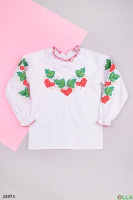 Рубашка - вышиванка белого цвета
