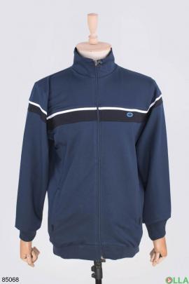 Мужской темно-синий спортивный костюм