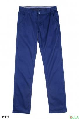Мужские брюки синего цвета