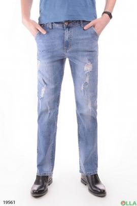 Мужские джинсы с порванностями