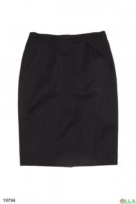 Женская юбка-карандаш черного цвета