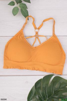 Женский оранжевый бюстгальтер-топ