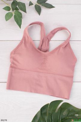 Женский розовый бюстгальтер-топ