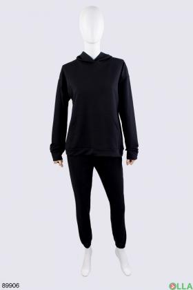 Женский черный спортивный костюм