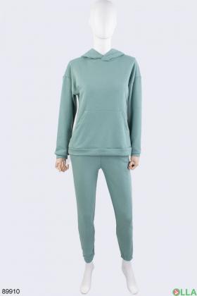 Женский зеленый спортивный костюм