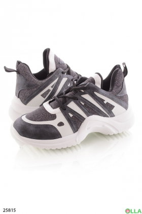 Спортивные кроссовки с люрексом