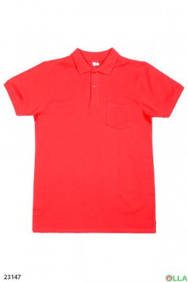 Мужская футболка-поло с карманом