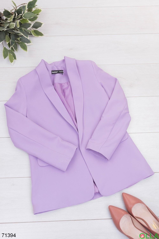 Женский лиловый пиджак
