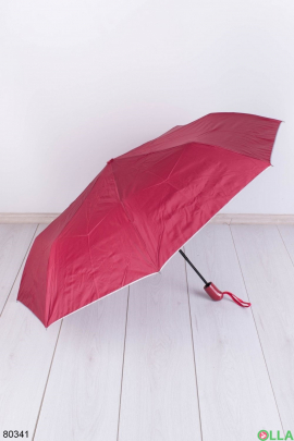 Женский красно-серый зонт