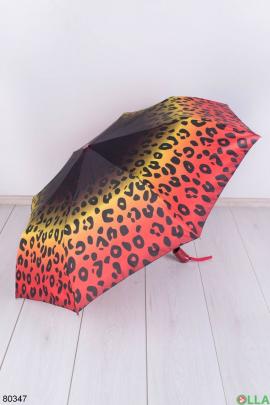 Женский зонт с леопардовым принтом
