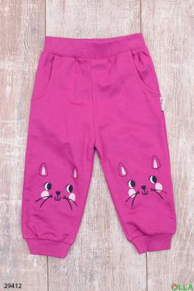 Спортивные штаны с кошечками
