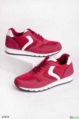 Мужские кроссовки красного цвета