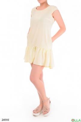 Летнее платье с воздушной оборкой