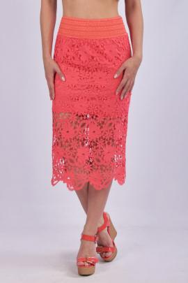 Летняя кружевная юбка - карандаш