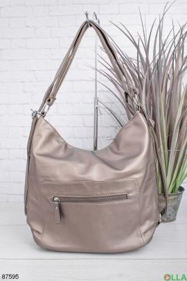Женская серебристая сумка