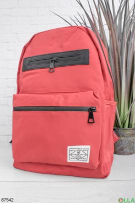 Женский красный рюкзак
