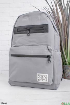 Женский серый рюкзак